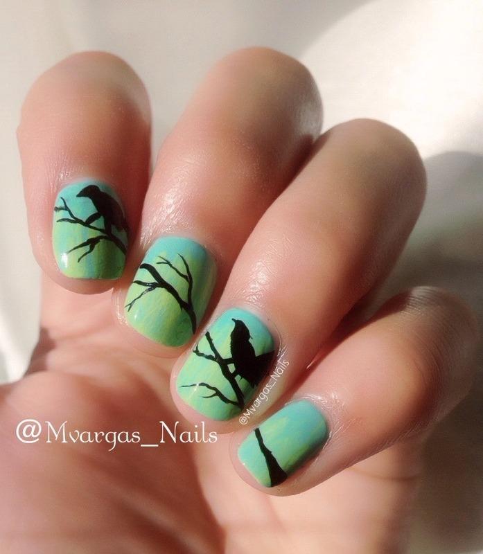Birds Nail Art By Massiel Pena