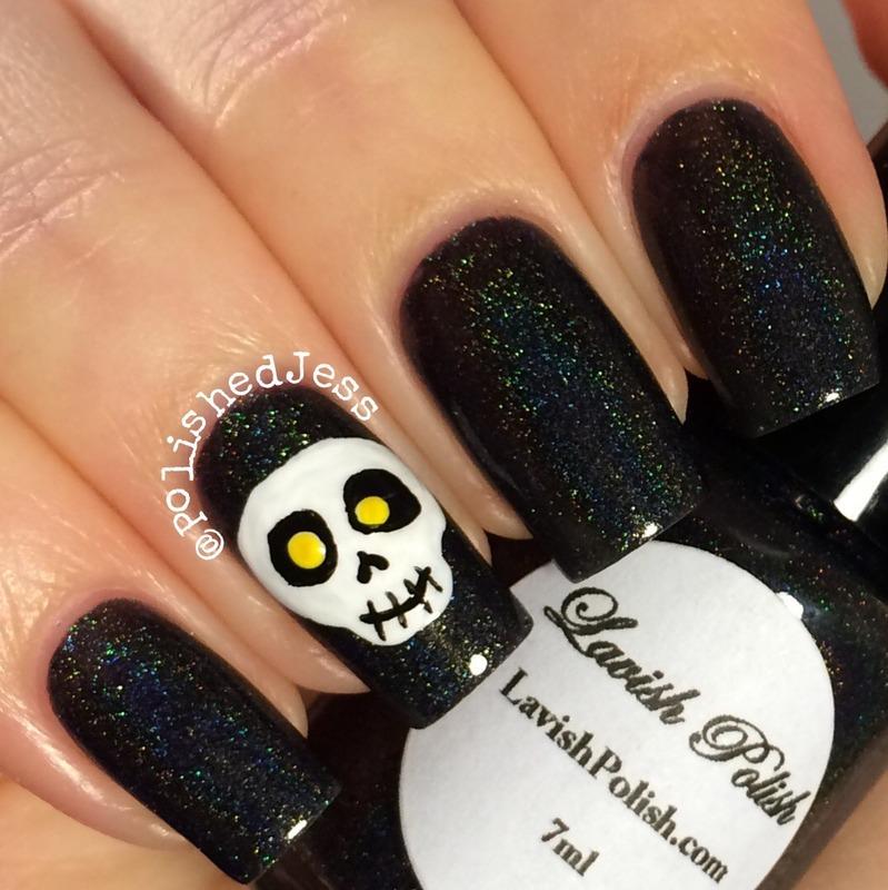 Undead  nail art by PolishedJess