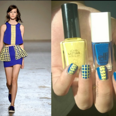 """Nail Art """"Inspiration LEITMOTIV"""" nail art by And'gel ongulaire"""