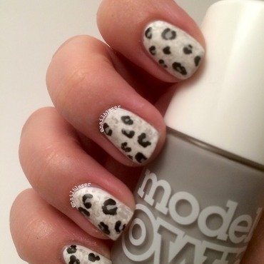 #31DC2014 Day 13 - Animal Print nail art by Nailblazer
