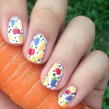Be Grateful and Eat More Veggies! nail art by ℐustine