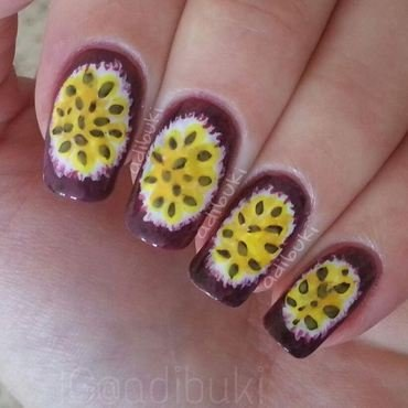 Passion Fruit  Nails nail art by Adi Buki