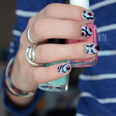 Ikat Nails nail art by nehmaah