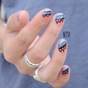 Aztec Nail Art nail art by nehmaah