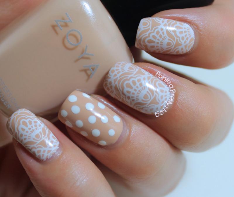 Zoya: Chantal Lace Nail Art nail art by Meagan Mhiz