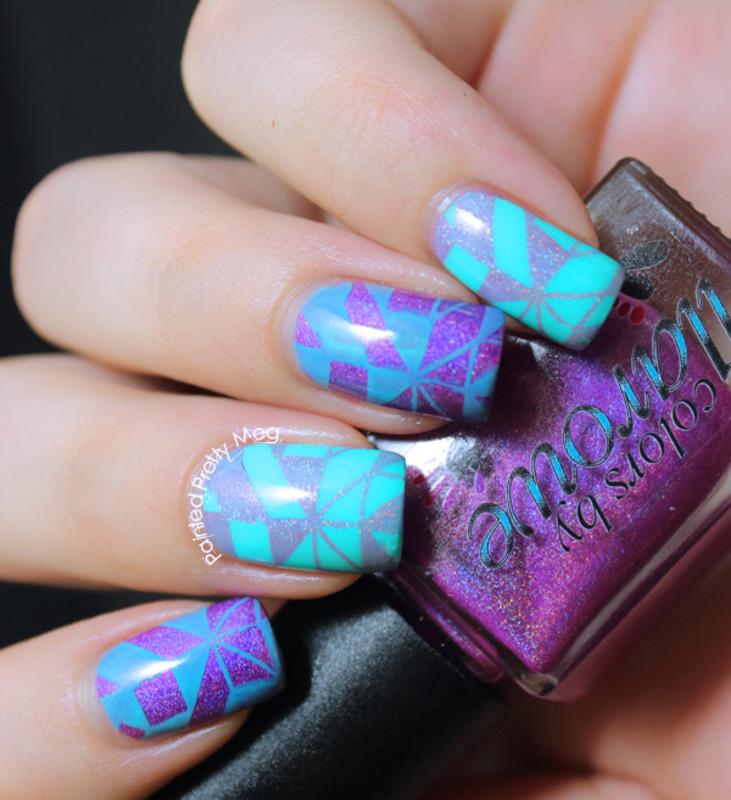 Geometric Nail Art! nail art by Meagan Mhiz