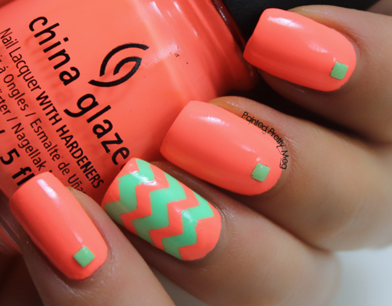 China Glaze Flip Flop Fantasy Chevron Nails nail art by Meagan ...
