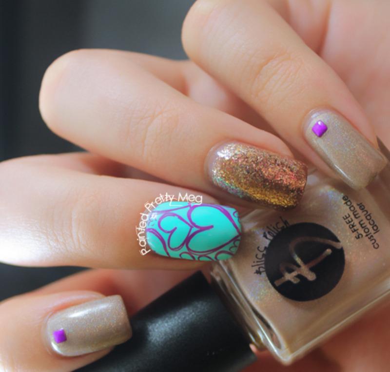 Bliss Polish Yvette Nail Art nail art by Meagan Mhiz