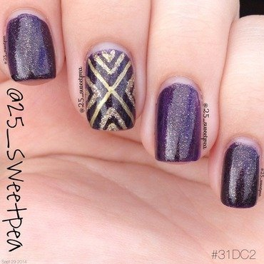 Sansa with a Gold Accent nail art by 25_sweetpea