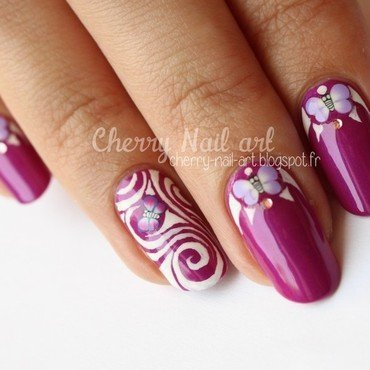Nail art papillons fimo nail art by Cherry Nail art