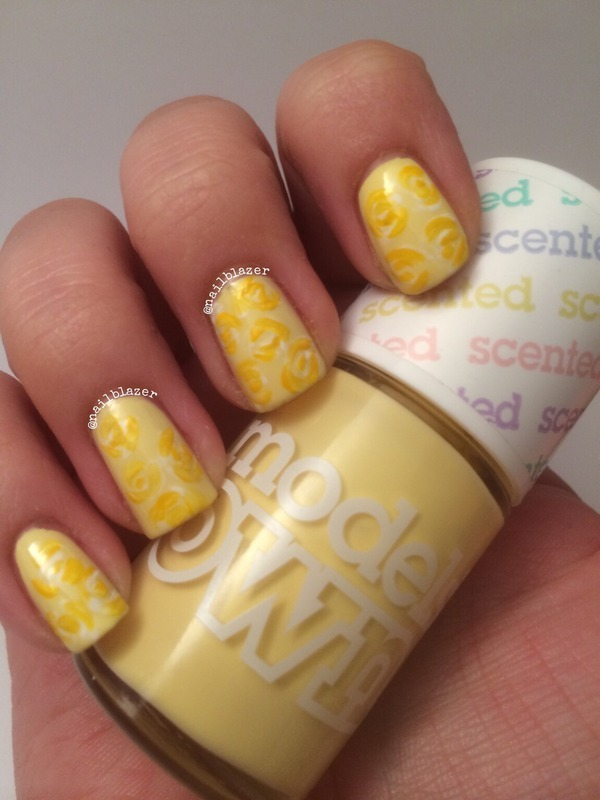 #31DC2014 Day 3 -Yellow nail art by Nailblazer