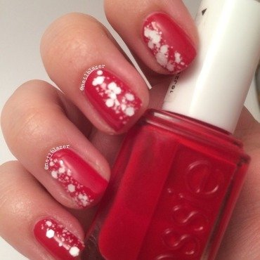 #31DC2014 Day 1 - Red nail art by Nailblazer