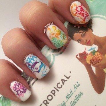Tropical Rainbow nail art by Nailblazer