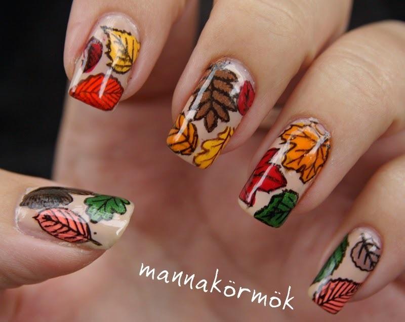 autumn nail art nail art by Marianna Kovács