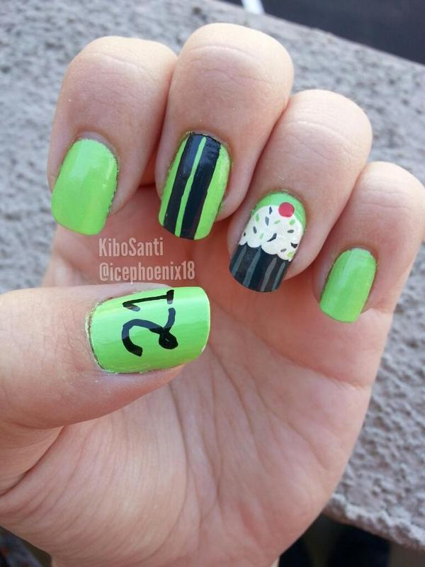 September challenge day 29 Inspired by a friend  nail art by KiboSanti