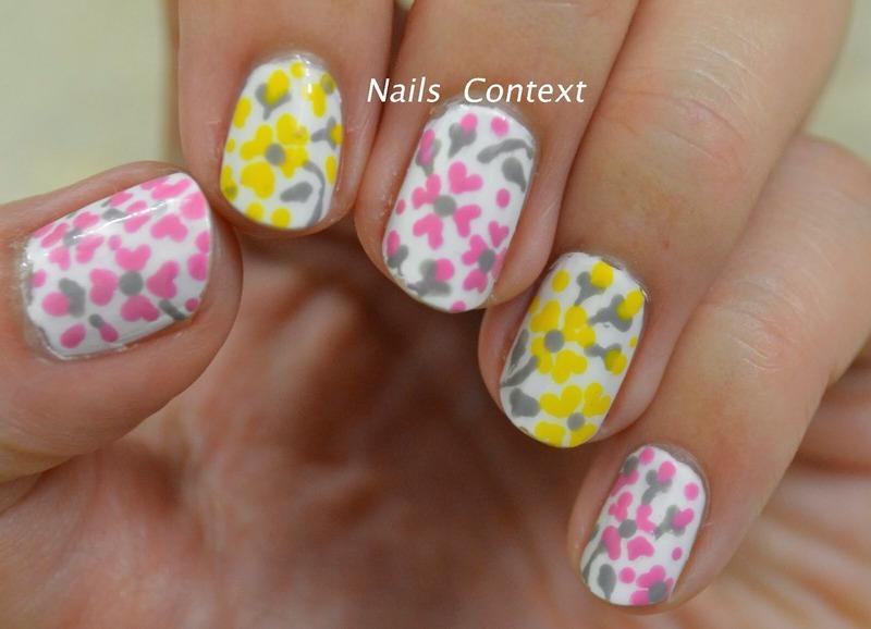 Summer Floral nail art by NailsContext