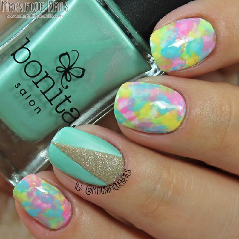 Pastel Nails nail art by Ana
