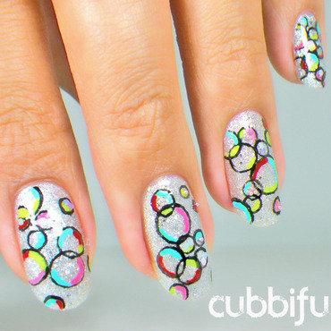 Colourful bubbles nail art thumb370f