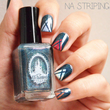 NA Striping tape nail art by Sweapee