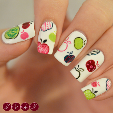 Apple of my Eye nail art by Becca (nyanails)