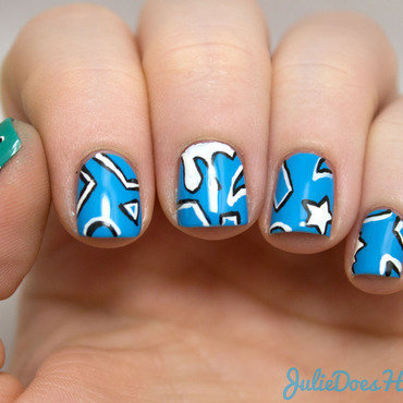 #31DC2014 Day 30: Inspired By A Tutorial nail art by Julie