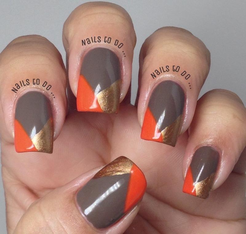 All fall nail art by Jenny Hernandez
