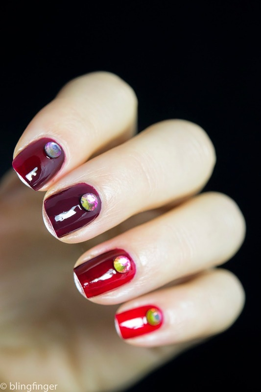 THREE CLASSIC RED POLISHES - OMBRE GRADIENT MANICURE nail art by  Petra  - Blingfinger