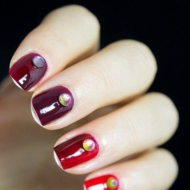 Red gradient nail art 3 thumb370f