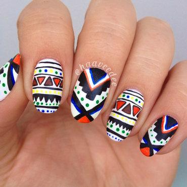 Tribal nails nail art by haaveedee (Hanne)
