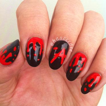Pretty Little Liars Halloween Nails nail art by haaveedee (Hanne)