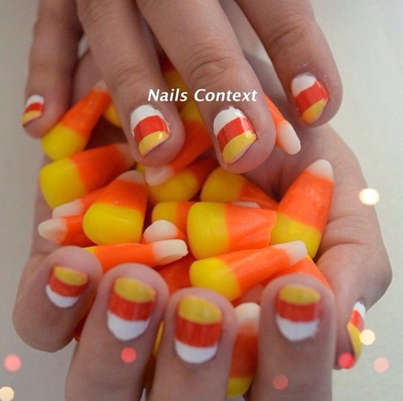 Candy Corn Nail Art nail art by NailsContext