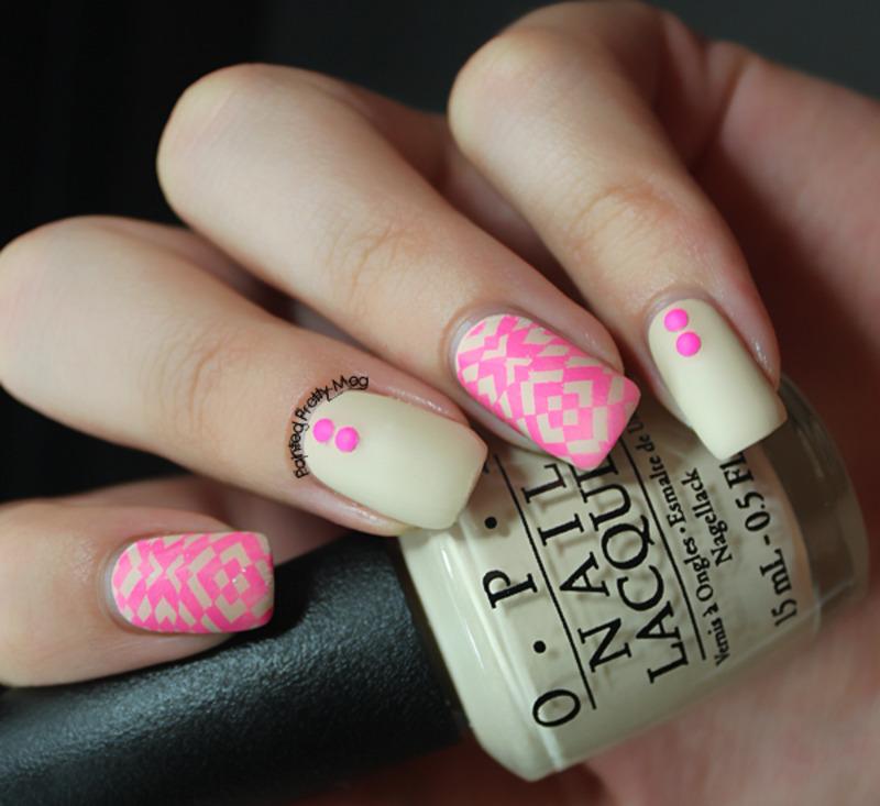 OPI Neon Nails nail art by Meagan Mhiz