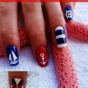 nautical nail art by Nail_it_hot