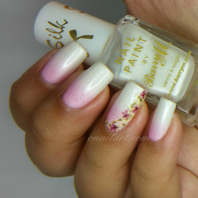 Real Dried Flowers Nails nail art by OnailArt