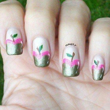 Pink Caramel Apples nail art by Nora (naq57)