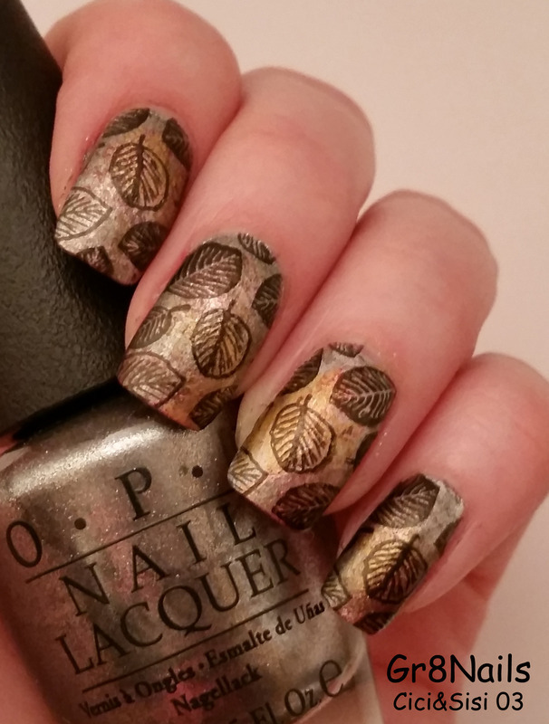 Autumn leaves nail art by Gr8Nails