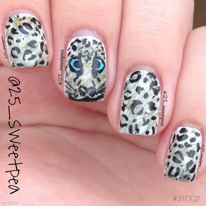 Jaguar  nail art by 25_sweetpea