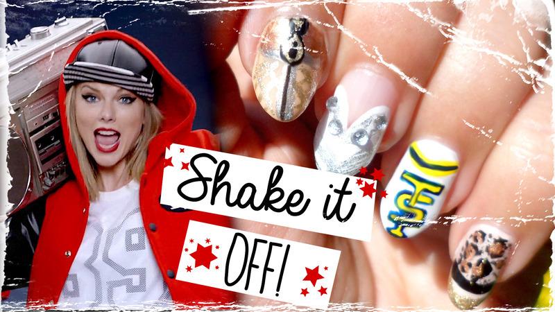 Taylor Swift - Shake it Off! Inspired Nail Art  nail art by madjennsy Nail Art