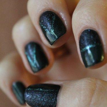 Сoniferous forest nail art by Gorshkova
