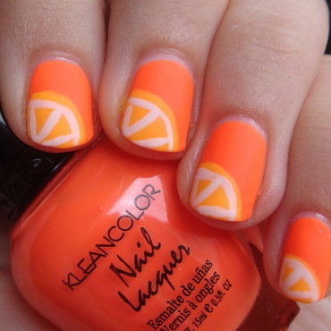 Orange Slices nail art by Elin The Cupcake Cat