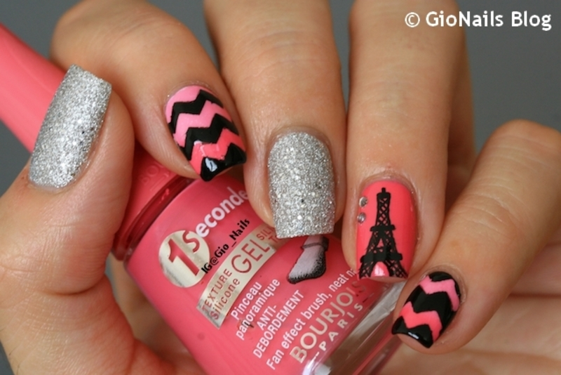 Pink in Paris nail art by Giovanna - GioNails