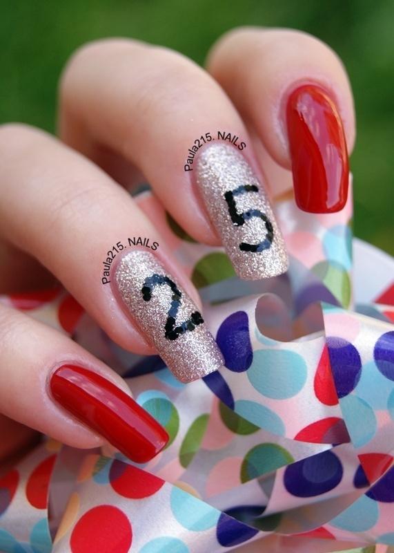 Keep Calm! It's my 25th birthday tomorrow. nail art by Paula215. NAILS