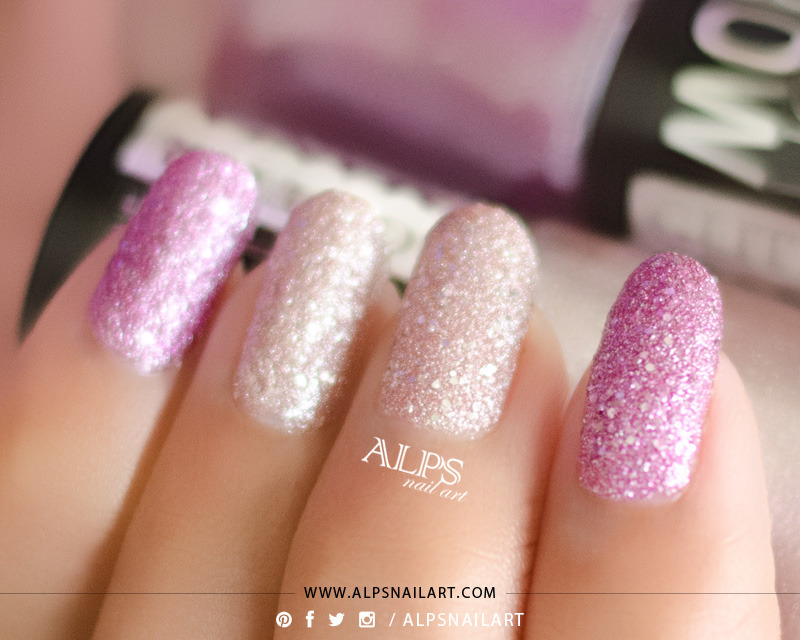 Maybelline Glitter Mania Matinee Mauve and Maybelline Glitter Mania Pink Champagne Swatch by Alpsnailart