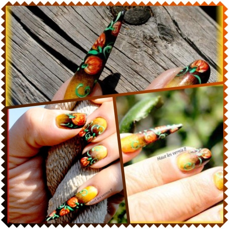 Halloween 1 nail art by Elodie Mayer