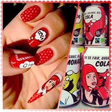 Cola bio organic nail art by Elodie Mayer