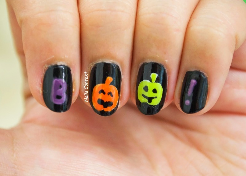 Halloween : BOO! nail art by NailsContext