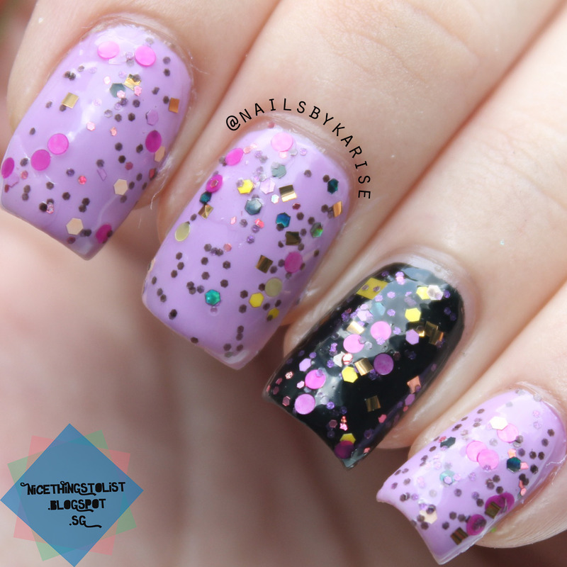 Chloe and Bella African Daisy Swatch by Karise Tan