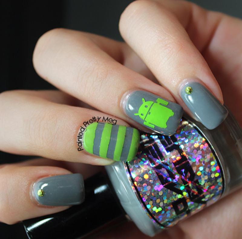 Android Nail Art nail art by Meagan Mhiz