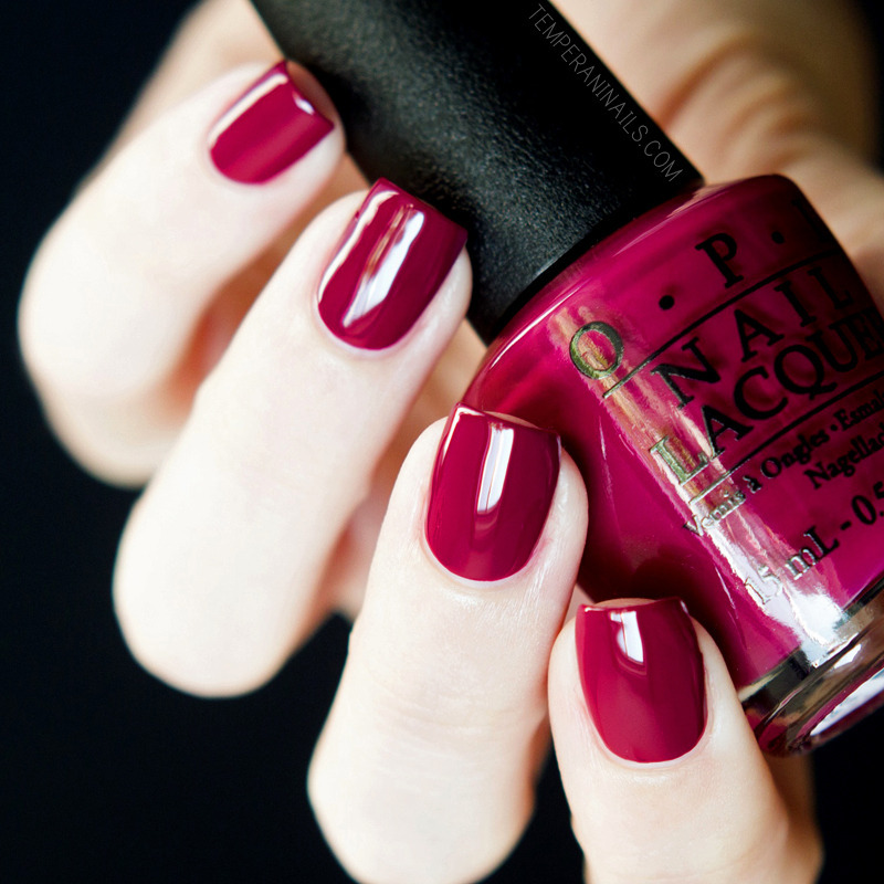 OPI Matte top coat and OPI Just BeClaus Swatch by Temperani Nails