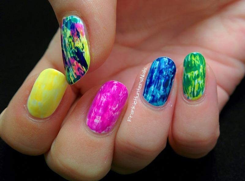 31DC2014 - Day 1 Rainbow nail art by Franziska FrankieHuntersNails